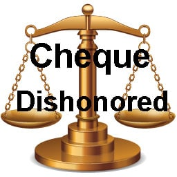 cheque dishonored