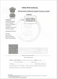 Rent Agreement Delhi